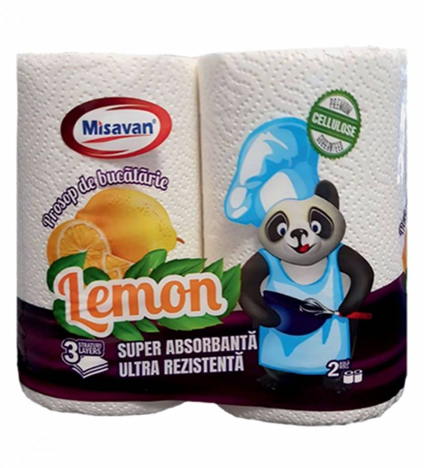 MISAVAN PROSOP BUCATARIE LEMON 2/SET 3STR